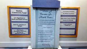 Victor Cassano Health Center Plaque